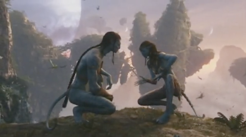 Sam Worthington and Zoe Saldana in James Cameron's Avatar