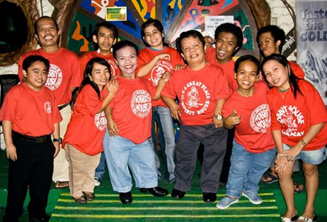 Proud staff of the Hobbit House, Manila