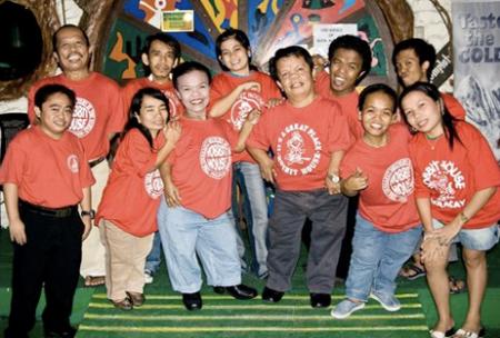 Proud staff of the Hobbit House, Manila