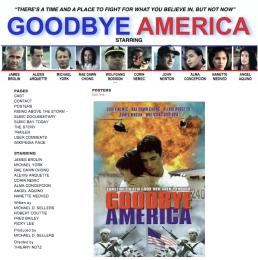 Goodbye America Website Landing Page