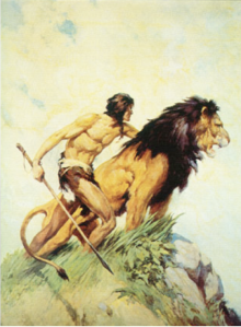 J. Allen St. John Illustration of Tarzan